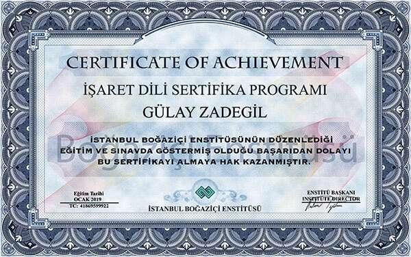 işaret dili sertifikası boğaziçi enstitüsü