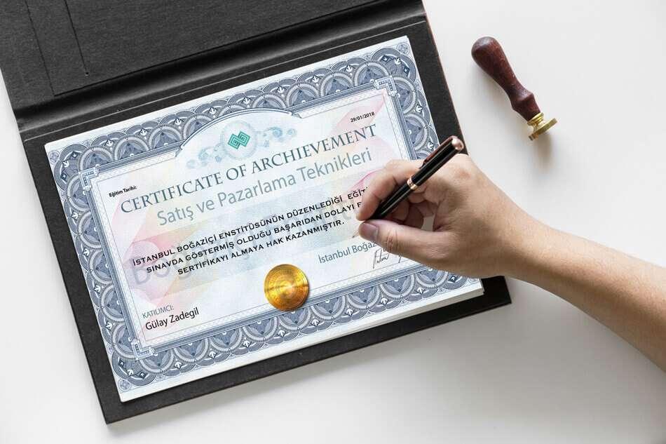 satış eğitimi sertifikası